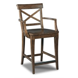 Hooker Rob Roy Stool in Medium Wood