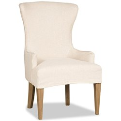 Hooker Upholstered Dining Side Chair in Weathered