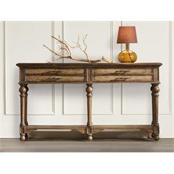 Hooker Console Table in Medium Wood