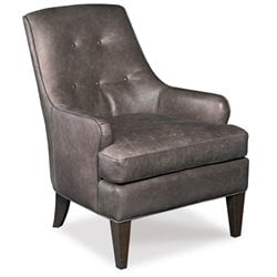 Hooker Furniture Triton Trumpeter Leather Club Chair in Dark Brown