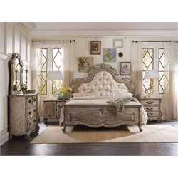 Hooker Furniture Chatelet 3 Piece King Upholstered Panel Bedroom Set