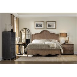 Hooker Furniture Corsica 3 Piece Panel Bedroom Set in Light Wood