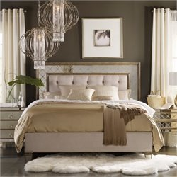 Hooker Sanctuary 3 Piece California King Mirrored Upholstered Bed Set