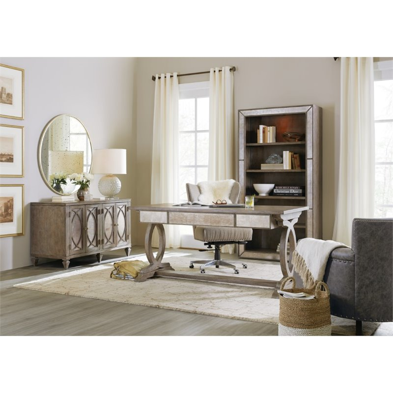 Hooker Furniture Rustic Glam Storage Credenza in Light Wood