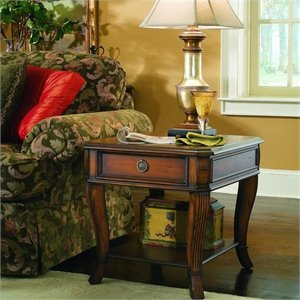 Hooker Furniture Brookhaven Wood Top End Table in Clear Cherry Image