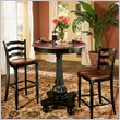 ADD TO YOUR SET: Hooker Furniture Indigo Creek Pub Table in Rub-Through Black