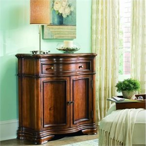 Hooker Furniture Waverly Place Shaped Wood Top Hall Console in Cherry