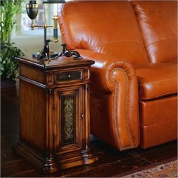 Hooker Furniture Seven Seas Leather Top Chairside End Table
