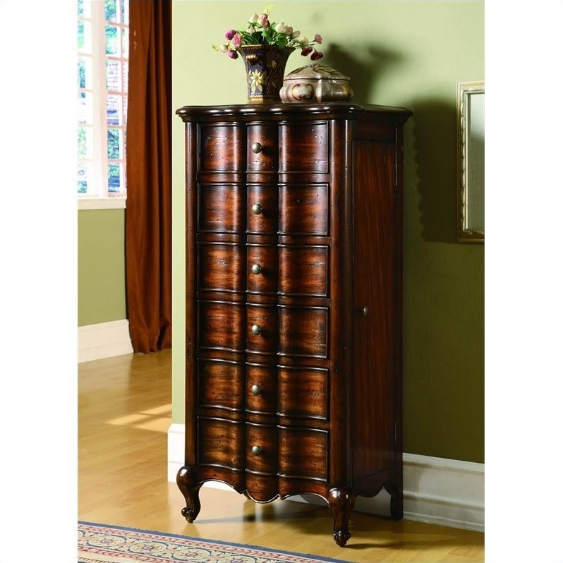 Hooker Furniture Seven Seas French Jewelry Armoire W Flip