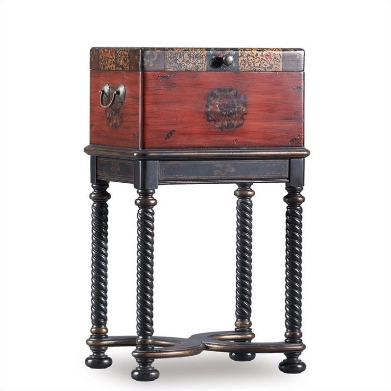 Hooker Furniture Seven Seas Dynasty Box on Stand Accent Table