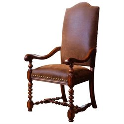 Hooker Furniture Waverly Place Upholstered Arm Dining Chair in Cherry