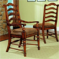 Hooker Furniture Waverly Place Ladderback Arm Dining Chair in Cherry