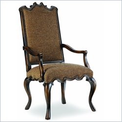 Hooker Furniture Sanctuary Canterbury Arm Chair in Brown Tweed