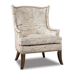 Hooker Furniture Sanctuary Paris Accent Swayback Arm Chair In Script Ivory