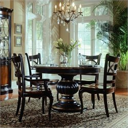 Hooker Furniture Preston Ridge Pedestal Dining Table with Leaf