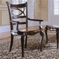 Hooker Furniture Preston Ridge Oval Back Arm Dining Chair with  Seat