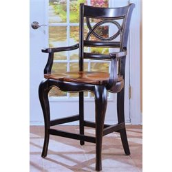 Hooker Furniture Preston Ridge Oval Back Bar Stool with Wood Seat