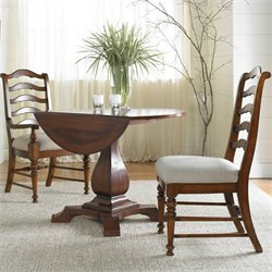 Hooker Furniture Waverly Place Round Drop Leaf Pedestal Dining Table