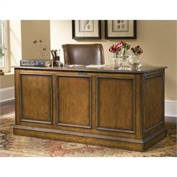 Hooker Furniture Brookhaven Drawer Desk in Distressed Cherry