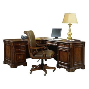 Hooker Furniture Brookhaven Executive L Shaped Computer Desk