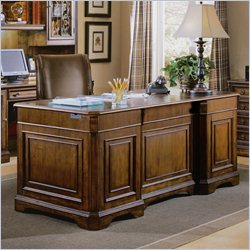 Hooker Furniture Brookhaven Executive Desk with Leather Top