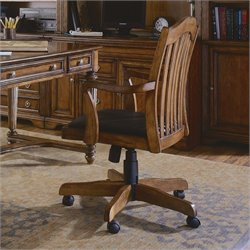 Hooker Furniture Brookhaven Tilt Swivel Office Chair in Medium Clear Cherry