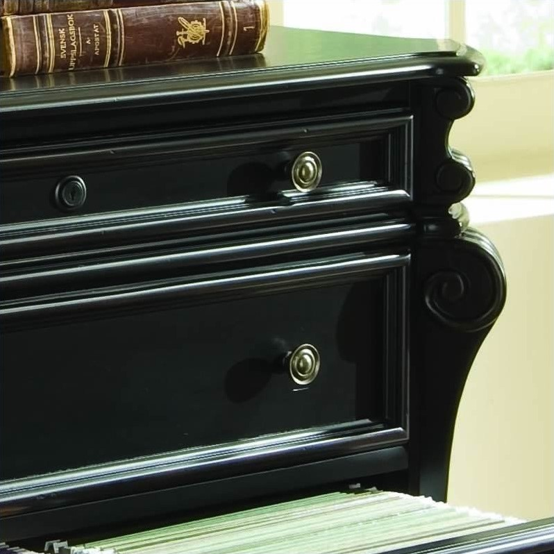 Hooker Furniture Telluride 2 Drawer Black Lateral File Cabinet