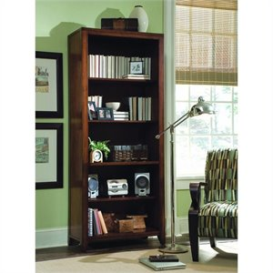Hooker Furniture Danforth Tall Bookcase in Rich Medium Brown