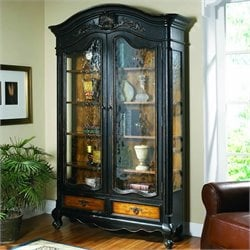 Hooker Furniture North Hampton Bonnet Top Display Cabinet