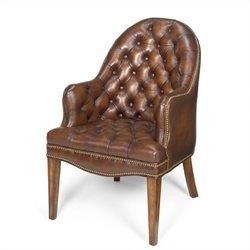 Hooker Furniture Seven Seas Executive Side Guest Chair in Derby Prairie