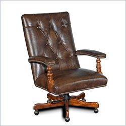 Hooker Furniture Seven Seas Executive Chair in Old Saddle Cocoa Brown