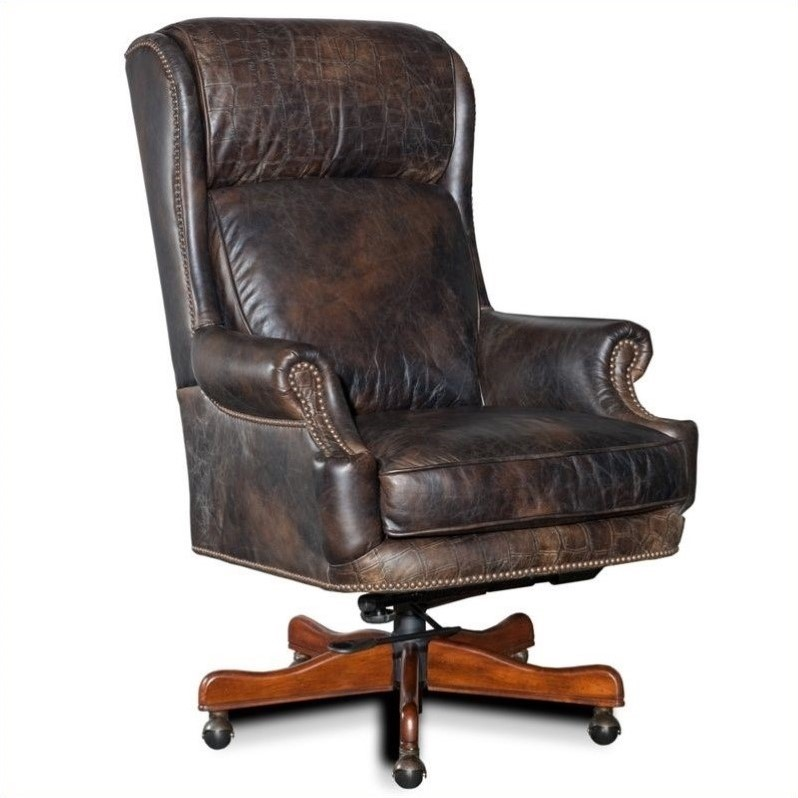 Hooker Furniture Seven Seas Executive Office Chair in Old Saddle Fudge
