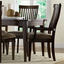Hooker Furniture Abbott Place Slat Back Arm Dining Chair in Warm Cherry