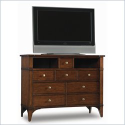 Hooker Furniture Abbott Place Eight-Drawer Media Chest in Warm Cherry