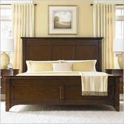 Hooker Furniture Abbott Place Panel Bed in Warm Cherry Finish - Queen