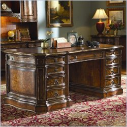 Hooker Furniture Beladora Executive Desk in Caramel Finish