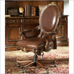 Hooker Furniture Beladora Swivel Desk Chair in Caramel Finish