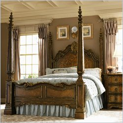 Hooker Furniture Beladora Poster Bed in Caramel with Gold Tipping - Queen