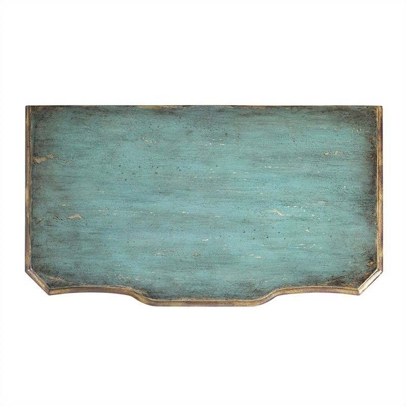 Hooker Furniture Seven Seas Three Drawer Turquoise Accent Chest Console
