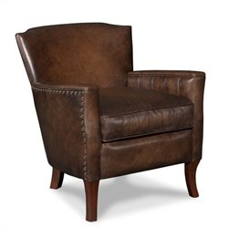 Hooker Furniture Seven Seas Leather Club Arm Chair in Inscription Art