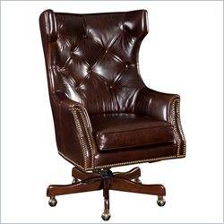 Hooker Furniture Seven Seas Executive Swivel Tilt Chair in Kona Bold