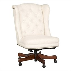 Hooker Furniture Seven Seas Tufted Executive Chair in Chateau Linen