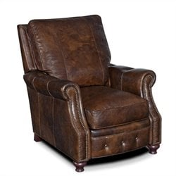 Hooker Furniture Seven Seas Leather Recliner Chair in Old Saddle Cocoa