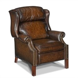 Hooker Furniture Seven Seas Leather Recliner in Sedona Vortex