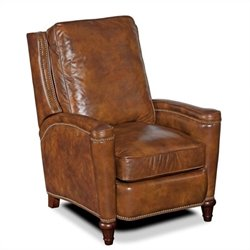 Hooker Furniture Seven Seas Leather Recliner in Twin Oaks Plantation