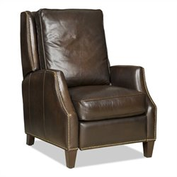 Hooker Furniture Seven Seas Leather Recliner Chair in Sarzana Fortress
