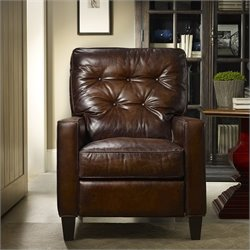 Hooker Furniture Seven Seas Leather Recliner Chair in Inscription Art