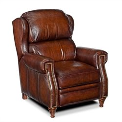 Hooker Furniture Seven Seas Leather Recliner in Sedona Grand Piano
