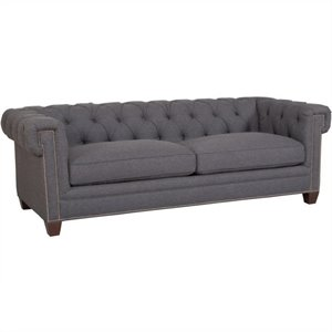 Hooker Furniture Seven Seas Sofa in Linosa Charcoal