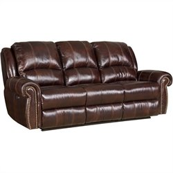 Hooker Furniture Seven Seas Power Motion Sofa in Saddle Brown
